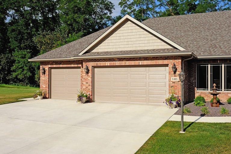 New standard garage door