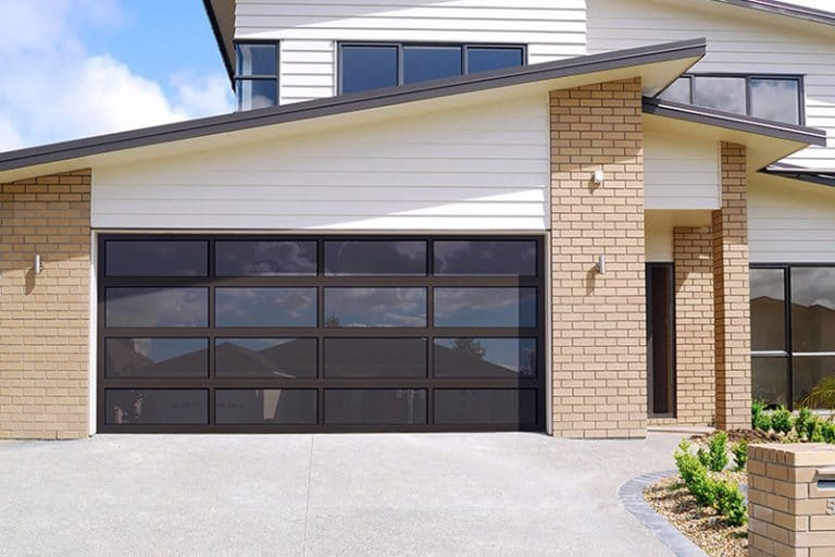 All aluminum garage door