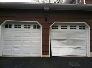Garage door dent Boulder Garage Doors